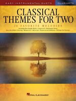 Classical Themes for Two Clarinets Easy Instrumental Duets Book NEW 000254440
