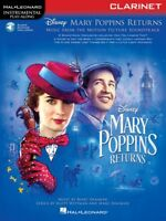 Mary Poppins Returns Clarinet Instrumental Play-Along Book and Audio 000288949