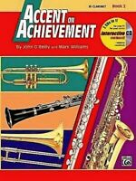 ACCENT ON ACHIEVEMENT - Bb Clarinet - Book 2  with CD
