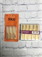 D'addario Rico Alto Saxophone Reeds 2.5 (3 Pack) and (10) Lade Music 10bB Reeds