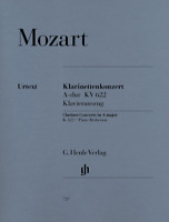 Clarinet Concerto in A Major, K. 622 for Clarinet in A & Piano Reduction with pa