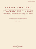 Concerto for Clarinet Clarinet and String Orchestra, with Harp and Piano New Edi