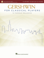 Gershwin for Classical Players Clarinet and Piano Book with Recorded Piano Accom