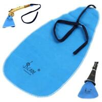 LADE Artificial Faux Suede Blue Cleaning Cloth for Flute Clarinet Sax Saxophone