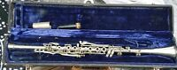 Vintage Continental Colonial Silver Metal Clarinet With Case Serial Number 84780