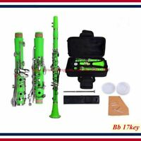 Clarinet - New Professional School Band Green Bb Clarinet with Case Accessories