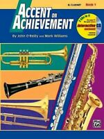 ACCENT ON ACHIEVEMENT - Bb Clarinet - Book 1  with CD