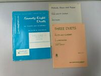 Lot of 3 Pieces of Sheet Music for Flute and Bb Clarinet