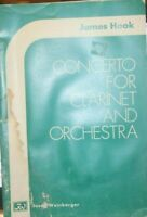 Score only Concerto for Clarinet and Orchestra by James Hook