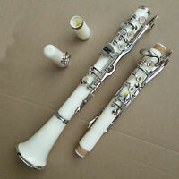 Excellent G Key Clarinet Bakelite With Case White Band