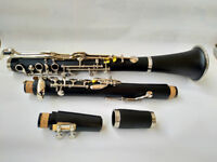 German system G key clarinet With Case Ebonite Good material and sound