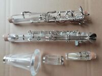 Beautifully Clarinet G Tone 18 Keys Plexiglass Nickel Plating Good Sound