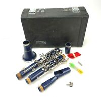 Mendini By Cecilio B Flat Beginner Student Blue Clarinet Case & Cleaning Stuff