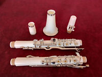 Excellent G Key Clarinet With Case White Bakelite Nickel Plated