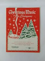 Rubank Christmas Music For Everyone - Piano Solo and Woodwinds - Vintage 1937