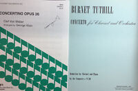 2 Difficult works for clarinet, Weber CONCERTINO and Tuthill CONCERTO.