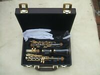 Clear clarinet kit Bb key real gold plated parts