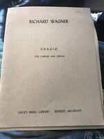 Adagio Richard Wagner Orchestra Applebaum Rare Out Of Print Clarinet And Strings