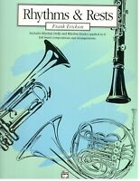 RHYTHM & RESTS MUSIC BOOK FOR BASS CLARINET BAND METHOD VERY RARE NEW ON SALE