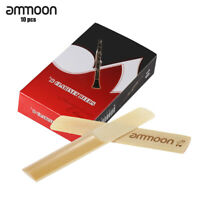 ammoon 10- Pieces Strength 2.5 Bamboo Reeds for Bb Clarinet Accessories Q3H4