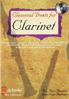 Classical Duets for Clarinet MUSIC BOOK/CD DE HASKE PLAY-ALONG BRAND NEW ON SALE