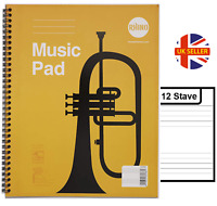 Music Pad Manuscript Book 12 Stave 48 Pages Wire Bound A4 Book Musician Writing