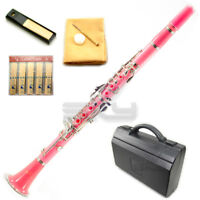 New High Quality Bb Pink Clarinet Package German Style Nickle Silver Keys