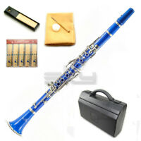 New High Quality Bb Blue Clarinet Package German Style Nickle Silver Keys