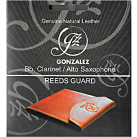 Gonzalez Wine Color Leather Reed Case for  Bb Clarinet/Alto Saxophone BRAND NEW