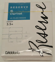 NEW-SEALED BOX OF D'ADDARIO RESERVE Eb CLARINET REEDS, STRENGTH #3.5+