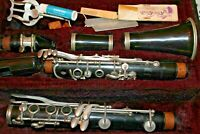 Vintage  H.& A. Selmer Clarinet with Bundy case and accessories