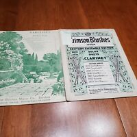 1934 2 Pcs Sheet Music Crimson Blushes (Solos or Duet for Clarinet) & Narcissus