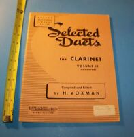 Selected Duets for Clarinet Volume II ( Advanced )    Vintage 1948