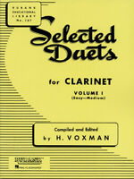 Rubank Selected Duets for Clarinet Vol 1 Easy to Medium Sheet Music Book