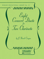 Eight Concert Duets for Two Clarinets Contest Sheet Music Rubank Book