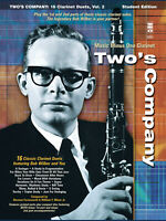 Bob Wilbur Two's Company for Clarinet Duets Jazz Sheet Music Minus One Book CD