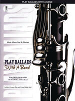 Play Ballads with a Band Bb Clarinet Solo Jazz Sheet Music Minus One Book CD