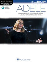 Adele Clarinet Solo Sheet Music Instrumental Play-Along Song Book Online Audio