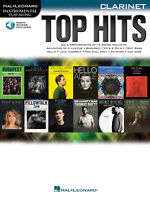 Top Hits for Clarinet Solo Sheet Music 12 Pop Songs Play-Along Book Online Audio