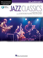 Jazz Classics for Clarinet Solo Sheet Music 12 Song Play-Along Book Online Audio