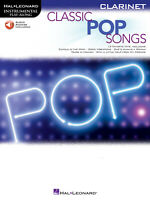Classic Pop Songs 12 for Clarinet Solo Sheet Music Play-Along Book Online Audio