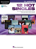 12 Hot Singles Clarinet Solo Sheet Music 12 Songs Play-Along Book Online Audio