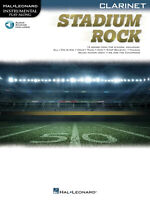 Stadium Rock for Clarinet Solo Sheet Music 13 Songs Play-Along Book Online Audio