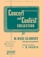 Concert & Contest Collections for Bb Bass Clarinet Solo Sheet Music Rubank Book