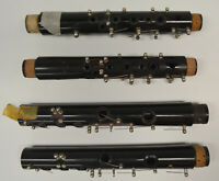 SET/LOT 4 Bb CLARINET JOINTS - LOWER AND UPPER - PARTS (BUNDY, ARTLEY, VITO)