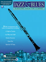 Jazz & Blues for Clarinet Solo Sheet Music 14 Songs Play-Along Book Online Audio