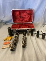 Vintage Romain Braude Paris MADE IN FRANCE CLARINET 8 Piece