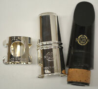 SELMER PARIS C85 SERIES 105 Bb CLARINET MOUTHPIECE W/METAL CAP/LIGATURE, LIST #3