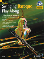 Swinging Baroque Clarinet Solo Jazz Classical Sheet Music Play-Along Book CD