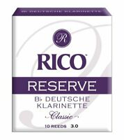 Rico Reserve Classic German Bb Clarinet Reeds Strength 3.0 10-pack
